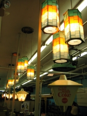 All the operational vintage checkout lights were on.