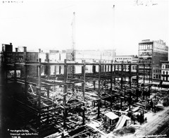 The LS Ayres downtown store under construction in 1905.