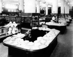 Interior store displays on the main floor in 1916.