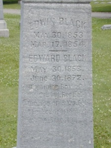Interestingly, Edward's stone is in much better condition than his brother Edwin's, and the dates of death for Edward on the obelisk and the headstone do not match - one states 1871 and the other 1872.