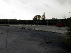During the summer of 2001 the building was partially torn down.