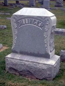 John Dillinger's Grave in Crown Hill.