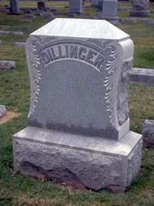 John Dillinger's Grave in Crown Hill.