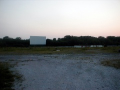 Screen for Theater 1 and the concession stand along the north end. Taken beside the office/house at the entrance.