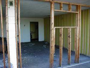 A guest room, or what is left of it.