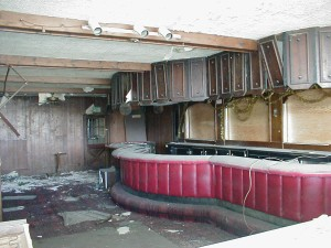 Looking into the former lounge.