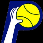 The first logo for the Indiana Pacers of the new ABA.