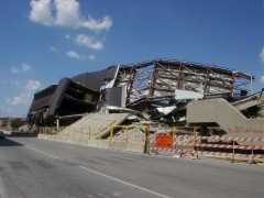 Market Square Arena after the implosion, looking at the Southwest corner from the City/County building.