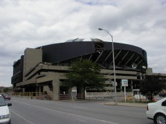 The South side of the building from the City/County building as demolition work begins in the summer of 2000.