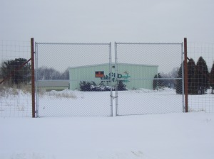 Front gate in February, 2003.