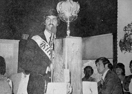 Mark Spitz accepts his award in 1973.
