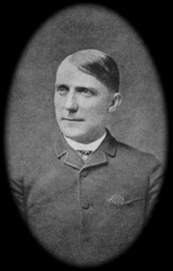 James Whitcomb Riley at age 28 as he went to work for the Anderson Democrat.