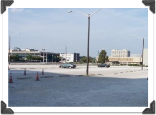 As of April 2009, it's still a parking lot. What a waste.